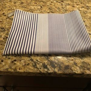Banana republic striped large pouch, used once